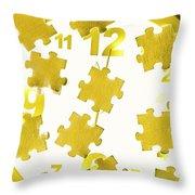 Golden Gauge Throw Pillow