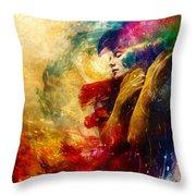 Golden Gloom Throw Pillow