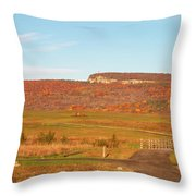 Golden Hour At River-to-ridge II Throw Pillow