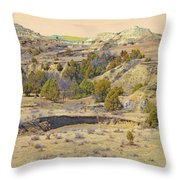 Golden Prairie Realm Reverie Throw Pillow