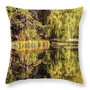 Golden Shevlin Park Throw Pillow