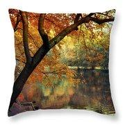 Golden Slumber Throw Pillow
