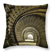 Golden Stairway Throw Pillow
