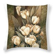 Golden Tulips    Throw Pillow