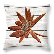 Golden Water Lily Duo Throw Pillow
