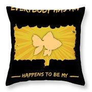 Goldfish Addiction Funny Farmer Animal Lover Throw Pillow