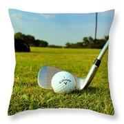 Golf Day Throw Pillow