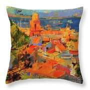 Golfe De Saint-tropez Throw Pillow