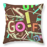 Golfing Print Press Throw Pillow