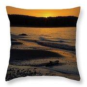 Good Harbor Bay Sunset Throw Pillow