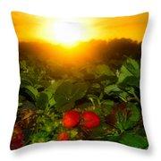 Good Morning Strawberries Throw Pillow