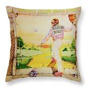 Goodbye Yellow Brick Road Throw Pillow