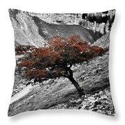 Gordale Scar Tree Throw Pillow