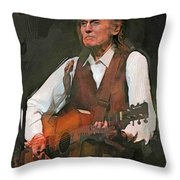 Gordon Lightfoot Throw Pillow