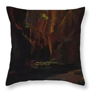 Gorge In The Mountains Of Carrara Throw Pillow