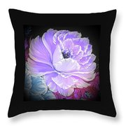 Gorgeous Rose In Purple  Throw Pillow