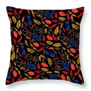 Gouache Hand Painted Botanical Throw Pillow