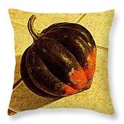 Gourd On Tile Throw Pillow