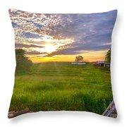 Gouveia Vineyard At Sunset  Throw Pillow