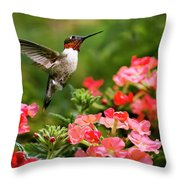 Graceful Garden Jewel Throw Pillow