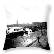 Grand Canal At Sunset Throw Pillow