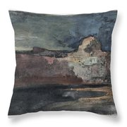 Grand Canyon In Stormy Weather, Arizona - Digital Remastered Edition Throw Pillow