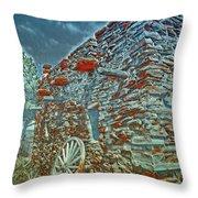 Grand Canyon Stone House Throw Pillow