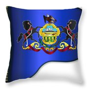 Grand Pennsylvania Flag Throw Pillow