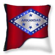 Grand Piano Arkansas Flag Throw Pillow
