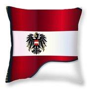 Grand Piano Austrian Flag Throw Pillow