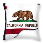 Grand Piano California Flag Throw Pillow