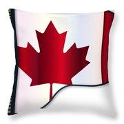 Grand Piano Canadian Flag Throw Pillow