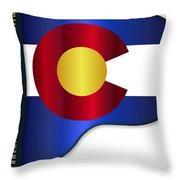 Grand Piano Colorado Flag Throw Pillow