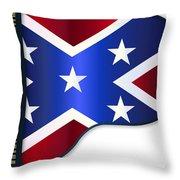 Grand Piano Confederate Flag Throw Pillow
