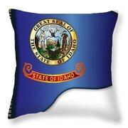 Grand Piano Idaho Flag Throw Pillow