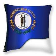 Grand Piano Kentucky Flag Throw Pillow