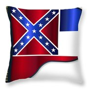 Grand Piano Mississippi Flag Throw Pillow