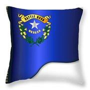 Grand Piano Nevada Flag Throw Pillow