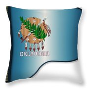 Grand Piano Oklahoma Flag Throw Pillow