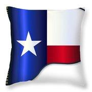 Grand Piano Texas Flag Throw Pillow