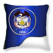 Grand Piano Utah Flag Throw Pillow