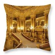 Grand Staircase Palais Garnier Throw Pillow by Brian Jannsen