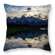 Grand Teton Sunset Throw Pillow by Michael Chatt