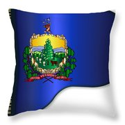 Grand Vermont Flag Throw Pillow