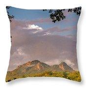 Grandfather Mountain Framed Throw Pillow by Ken Barrett