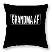 Grandma Af Throw Pillow