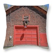 Grantham Barn With Quilt Squares Throw Pillow