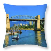 Granville Island Vancouver, British Columbia, Canada Throw Pillow by Ola Allen