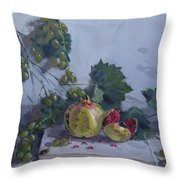 Grapes And Pomegranates Throw Pillow