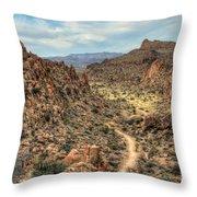 Grapevine Mountain Trail Throw Pillow